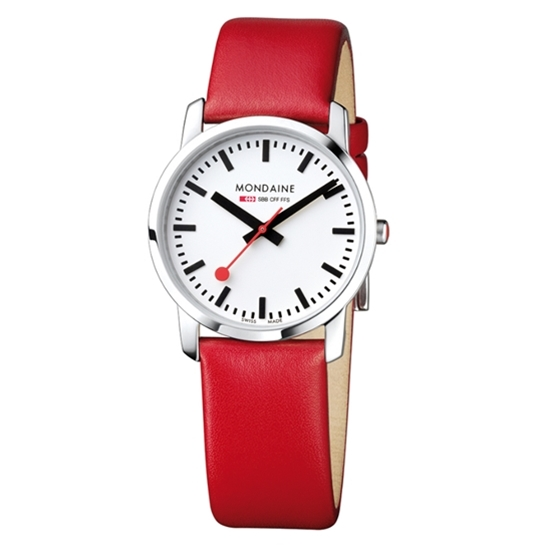 Simply Elegant 36mm on Red Strap